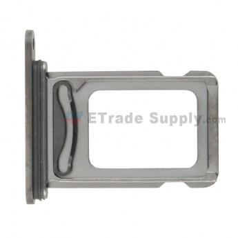 For Apple iPhone 12 Pro SIM Card Tray Replacement (Double SIM Card) - Gray - Grade S+ (0)