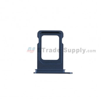 For Apple iPhone 12 SIM Card Tray Replacement (Single SIM Card) -Blue - Grade S+ (0)