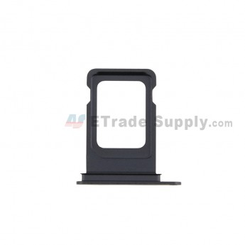For Apple iPhone 12 SIM Card Tray Replacement (Single SIM Card) - Black - Grade S+ (0)