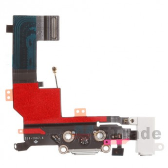For Apple iPhone 5S Charging Port Flex Cable Ribbon Replacement - White - Grade R (0)