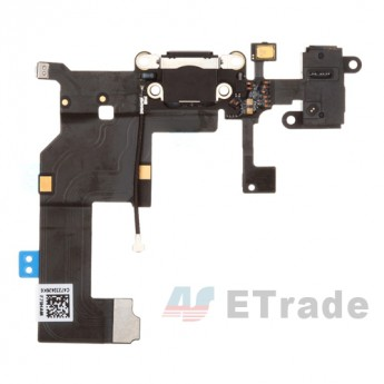 For Apple iPhone 5 Charging Port Flex Cable Ribbon Replacement - Black - Grade R (0)