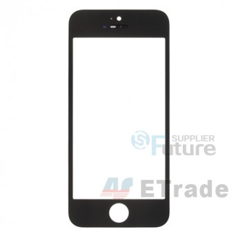 For Apple iPhone 5 Glass Lens with Frame Replacement - Black - Grade R (0)