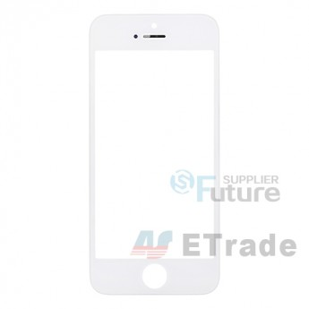 For Apple iPhone 5 Glass Lens with Frame Replacement - White - Grade R (0)