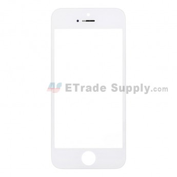 For Apple iPhone 5 Glass Lens with Frame Replacement - White - Grade R (6)