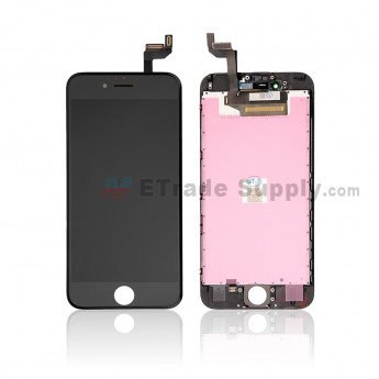 For Apple iPhone 6S LCD Screen and Digitizer Assembly with Frame Replacement - Black - Grade S (0)