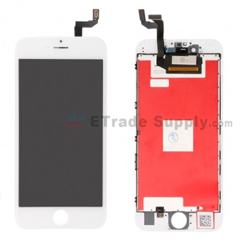 For Apple iPhone 6S LCD Screen and Digitizer Assembly with Frame Replacement (AUO) - White - Grade R (0)