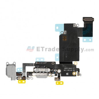 For Apple iPhone 6S Plus Charging Port Flex Cable Ribbon Replacement - Dark Gray - Grade S+ (2)