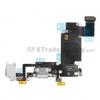 For Apple iPhone 6S Plus Charging Port Flex Cable Ribbon Replacement - Light Gray - Grade S+ (1)