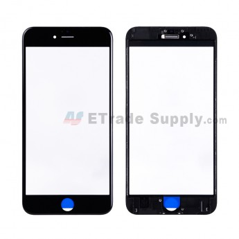 For Apple iPhone 6S Plus Glass Lens with Frame Replacement - Black - Grade R (2)