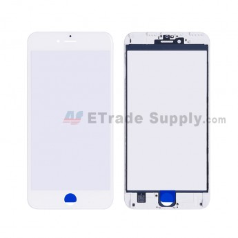 For Apple iPhone 6S Plus Glass Lens with Frame Replacement - White - Grade R (2)