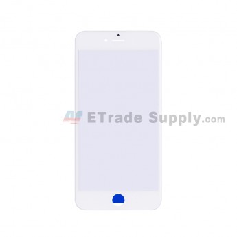 For Apple iPhone 6S Plus Glass Lens with Frame Replacement - White - Grade S+ (1)