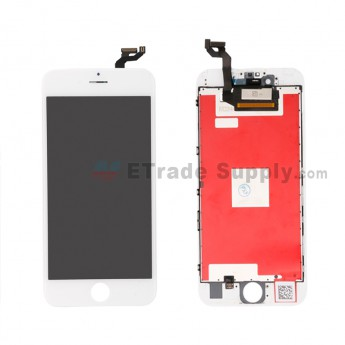 For Apple iPhone 6S Plus LCD Screen and Digitizer Assembly with Frame Replacement - White - Grade A (0)