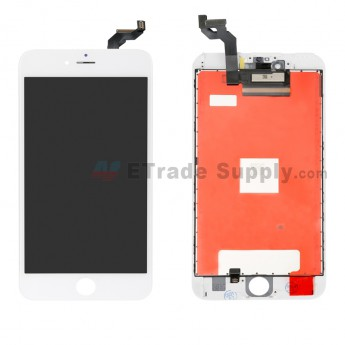 For Apple iPhone 6S Plus LCD Screen and Digitizer Assembly with Frame Replacement - White - Grade R (0)