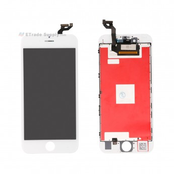 For Apple iPhone 6S Plus LCD Screen and Digitizer Assembly with Frame Replacement - White - Grade S+ (0)