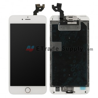 For Apple iPhone 6S Plus LCD Screen and Digitizer Assembly with Frame and Home Button Replacement - Gold - Grade S (0)