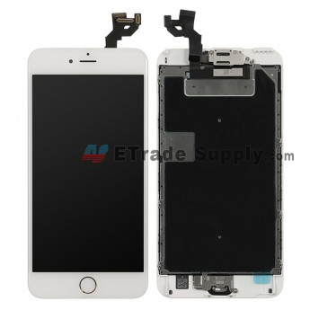 For Apple iPhone 6S Plus LCD Screen and Digitizer Assembly with Frame and Home Button Replacement - Silver - Grade A (7)