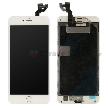 For Apple iPhone 6S Plus LCD Screen and Digitizer Assembly with Frame and Home Button Replacement - Silver - Grade S+ (0)