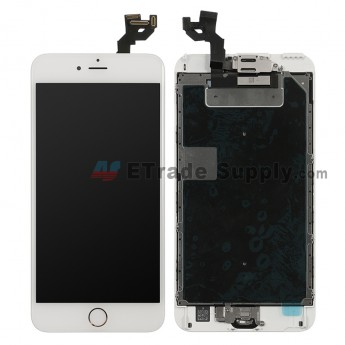 For Apple iPhone 6S Plus LCD Screen and Digitizer Assembly with Frame and Home Button Replacement - Silver - Grade S (0)