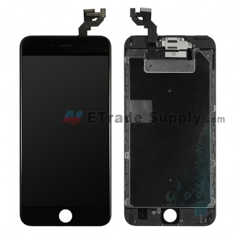 For Apple iPhone 6S Plus LCD Screen and Digitizer Assembly with Frame and Small Parts (without Home Button) Replacement - Black - Grade S (0)