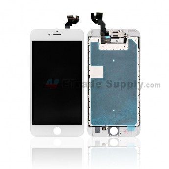 For Apple iPhone 6S Plus LCD Screen and Digitizer Assembly with Frame and Small Parts (without Home Button) Replacement - White - Grade R (0)