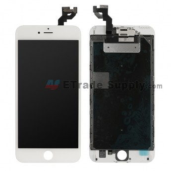 For Apple iPhone 6S Plus LCD Screen and Digitizer Assembly with Frame and Small Parts (without Home Button) Replacement - White - Grade S (0)