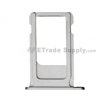 For Apple iPhone 6S SIM Card Tray Replacement - Silver - Grade S+ (0)
