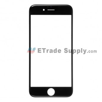 For Apple iPhone 6 Glass Lens with Frame Replacement - Black - Grade R (0)