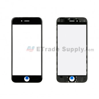 For Apple iPhone 6 Glass Lens with Frame Replacement - Black - Grade R (1)