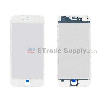 For Apple iPhone 6 Glass Lens with Frame Replacement - White - Grade R (1)