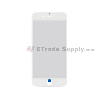 For Apple iPhone 6 Glass Lens with Frame Replacement - White - Grade S+ (0)