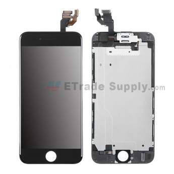 For Apple iPhone 6 LCD Digitizer Assembly with Frame and Small Parts Replacement (Without Home Button) - Black - Grade R (1)