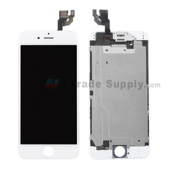 For Apple iPhone 6 LCD Digitizer Assembly with Frame and Small Parts Replacement (Without Home Button) - White - Grade R (0)