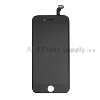 For Apple iPhone 6 LCD Screen and Digitizer Assembly with Frame Replacement - Black - Grade S (1)