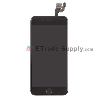 For Apple iPhone 6 LCD Screen and Digitizer Assembly with Frame and Home Button Replacement - Black - Grade R (0)