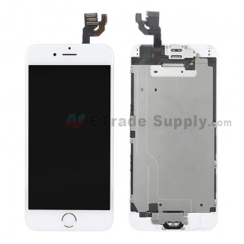 For Apple iPhone 6 LCD Screen and Digitizer Assembly with Frame and Home Button Replacement - Silver - Grade R (2)
