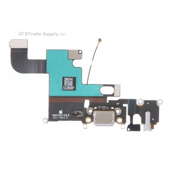 For Apple iPhone 6 Plus Charging Port Flex Cable Ribbon Replacement - Dark Gray - Grade R (0)