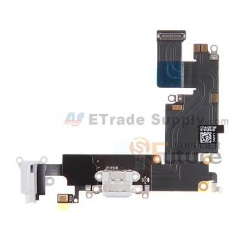 For Apple iPhone 6 Plus Charging Port Flex Cable Ribbon Replacement - White - Grade R (0)