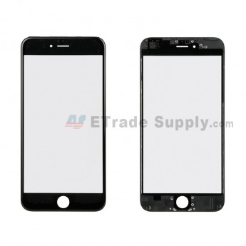 For Apple iPhone 6 Plus Glass Lens with Frame Replacement - Black - Grade R (1)