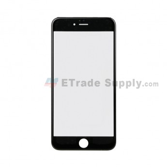 For Apple iPhone 6 Plus Glass Lens with Frame Replacement - Black - Grade S+ (0)