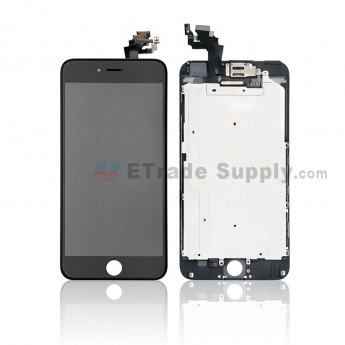 For Apple iPhone 6 Plus LCD Screen and Digitizer Assembly with Frame and Small Parts Replacement (Without Home Button) - Black - Grade R (8)