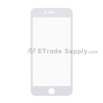 For Apple iPhone 6 Plus Tempered Glass Screen Protector (With Package) - White - Grade R (1)