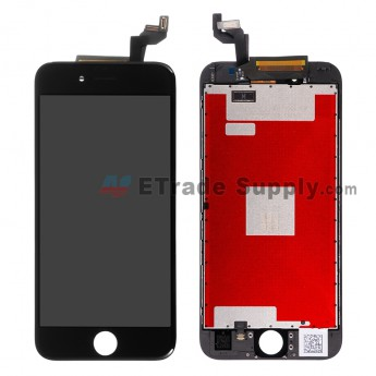 For Apple iPhone 6s LCD Screen and Digitizer Assembly with Frame Replacement (LT)- Black - Grade R (0)