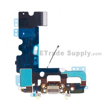 For Apple iPhone 7 Charging Port Flex Cable Ribbon Replacement - White - Grade S+ (0)