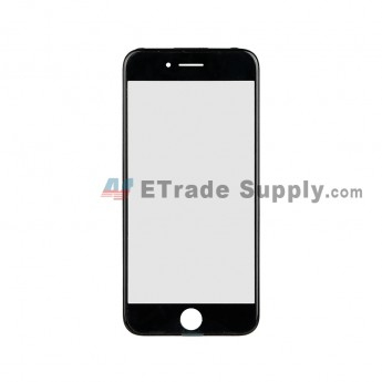 For Apple iPhone 7 Glass Lens with Frame Replacement - Black - Grade R (0)
