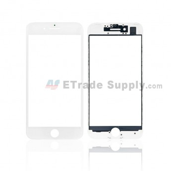 For Apple iPhone 7 Glass Lens with Frame and Optical Clear Adhesive Replacement - White - Grade S+ (0)