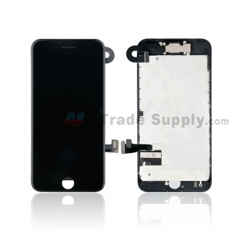 For Apple iPhone 7 LCD Screen and Digitizer Assembly with Frame and Small Parts Replacement (Without Home Button) - Black - Grade R (0)