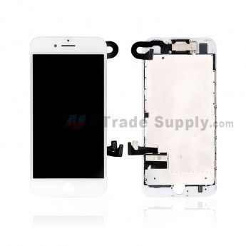 For Apple iPhone 7 LCD Screen and Digitizer Assembly with Frame and Small Parts Replacement (Without Home Button) - White - Grade R (0)