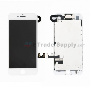 For Apple iPhone 7 LCD Screen and Digitizer Assembly with Frame and Small Parts (Without Home Button) Replacement - White - Grade S+ (0)