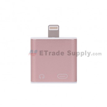 For Apple iPhone 7 Lightning to Audio + Charger - Rose Gold - Grade R (2)