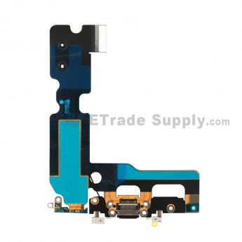 For Apple iPhone 7 Plus Charging Port Flex Cable Ribbon Replacement - Black - Grade S+ (1)